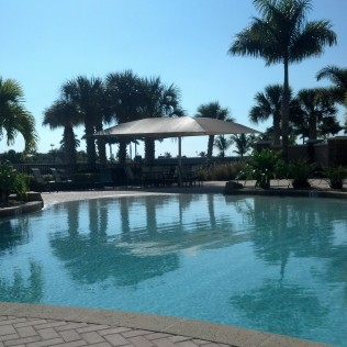 The community pool at the Quarry in Naples, FL.