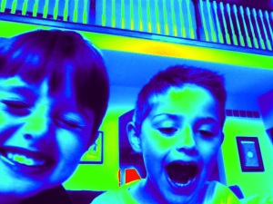 Luke and Noah also took about 200 pictures just like this of themselves when I thought they were playing ABC Mouse.