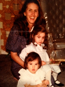 My hero: my mom with my sister and me.