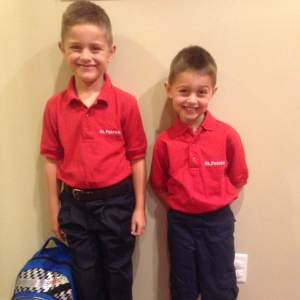 Noah the First Grader and Luke the Kindergartener